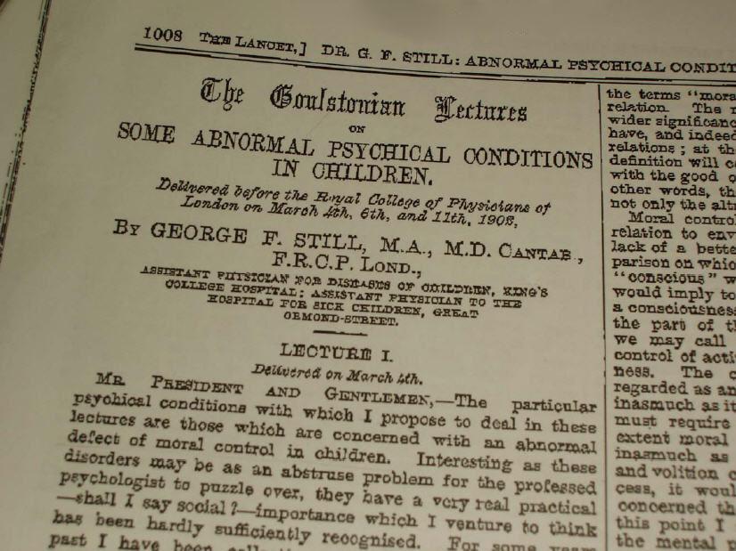 The Lancet, Sir 1902 George F Still
